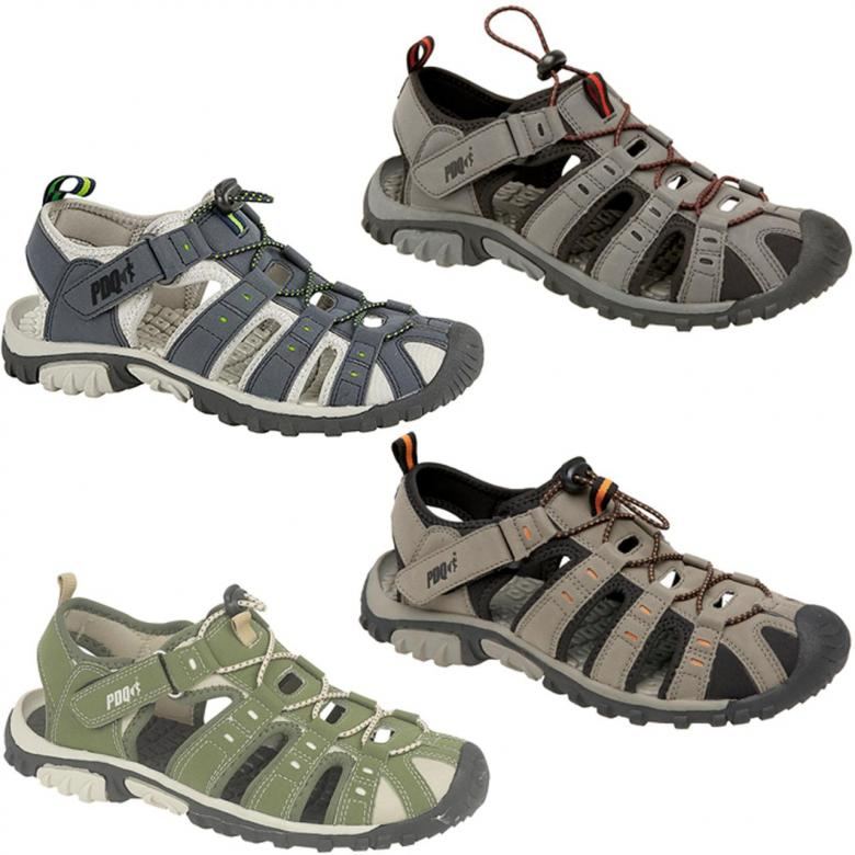 db3bcc5d9be Mens Closed Toe Leisure Sandals Toggle and Touch in Green
