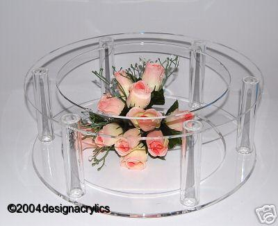 details about stunning giant acrylic cake stand base cage style