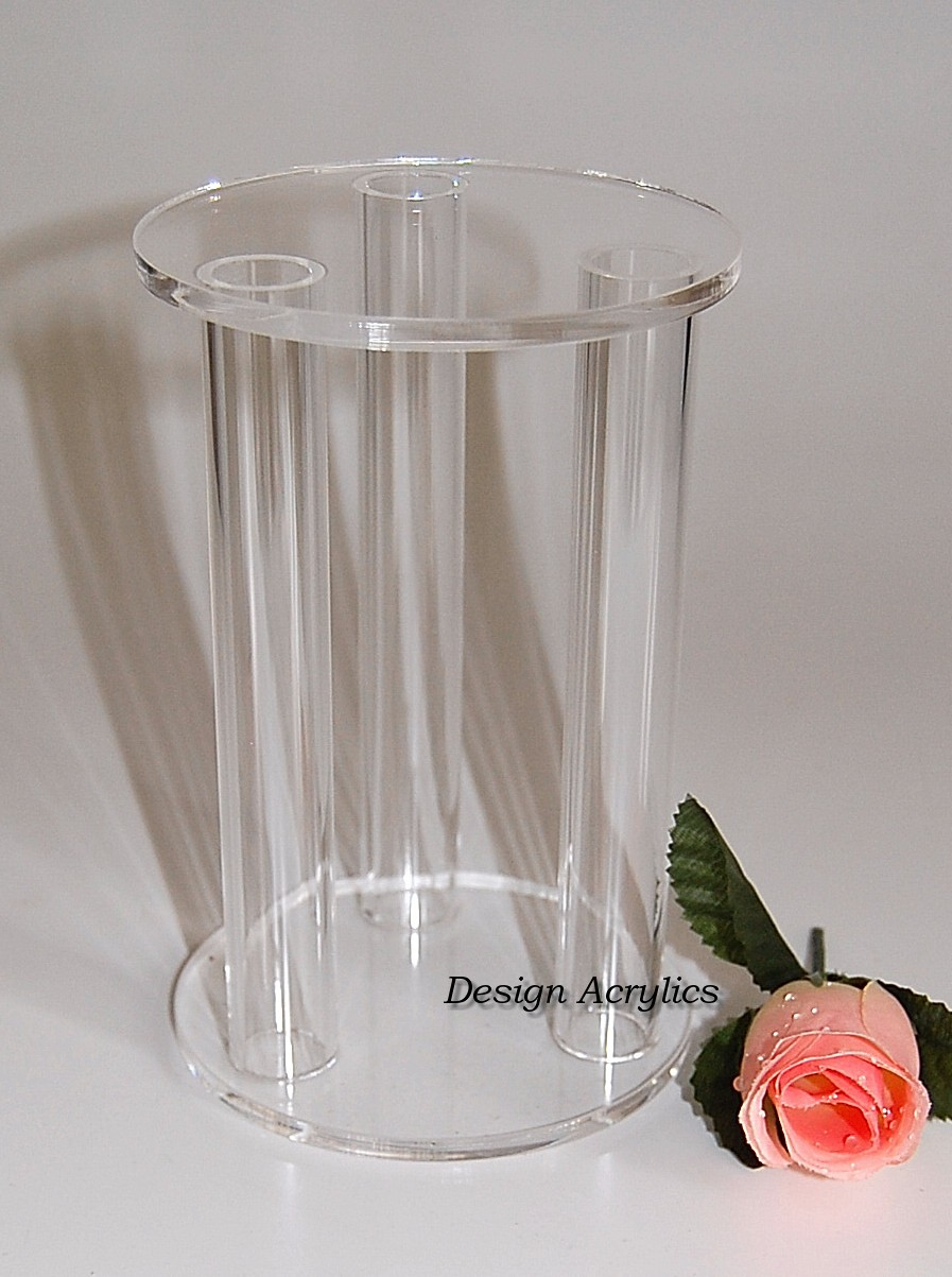 CLEAR ACRYLIC CAGE SEPARATOR WEDDING CAKE STAND PILLARS