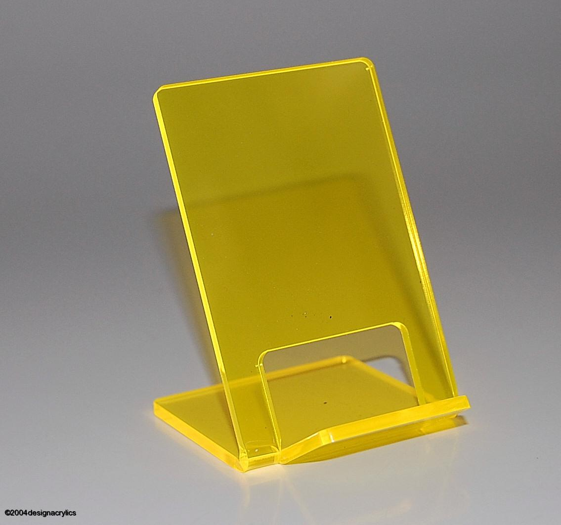 Acrylic Stand Designs : Funky neon brights acrylic mobile phone stand yellow ebay