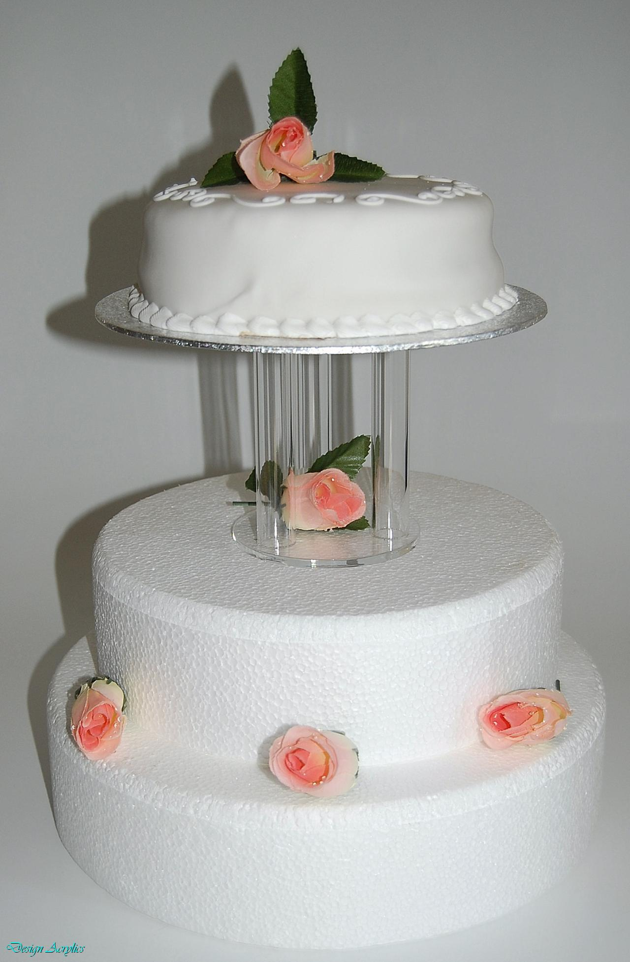CLEAR MINI ACRYLIC CAGE SEPARATOR WEDDING CAKE STAND 5