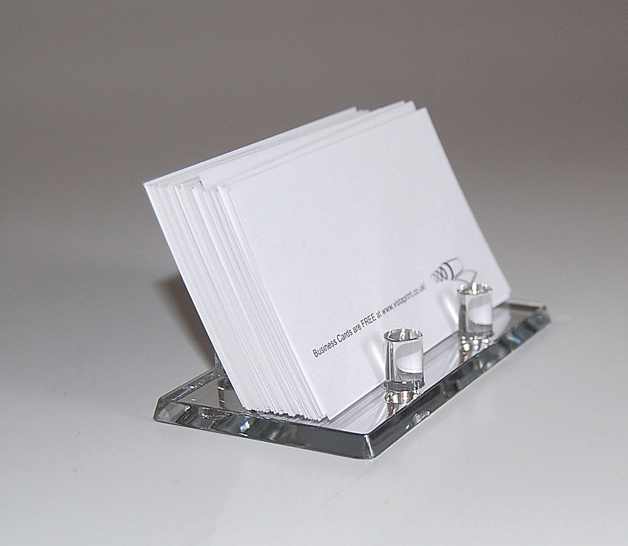 MIRROR ACRYLIC BUSINESS CARD HOLDER DISPLAY eBay