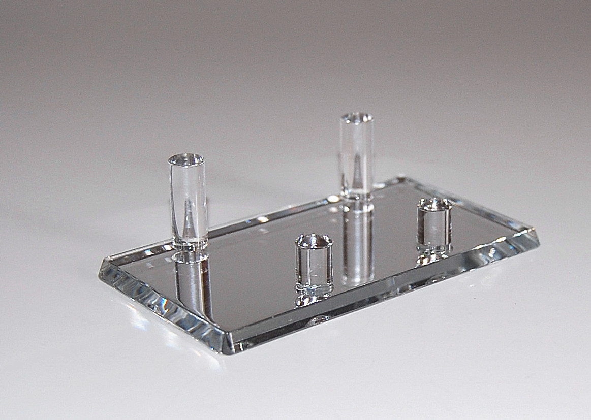 MIRROR ACRYLIC BUSINESS CARD HOLDER DISPLAY | eBay