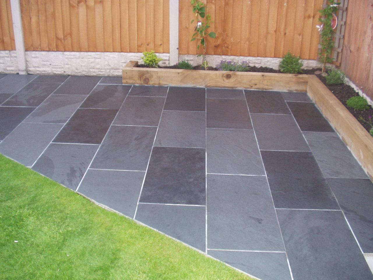 details about slate paving garden patio tiles not slabs