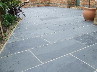 Black Grey Slate Paving Patio Garden Slabs Slab Tile
