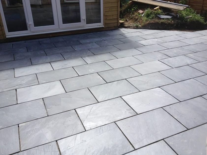 Patio Pavers Ebay : Black slate paving patio garden slabs sample ? p