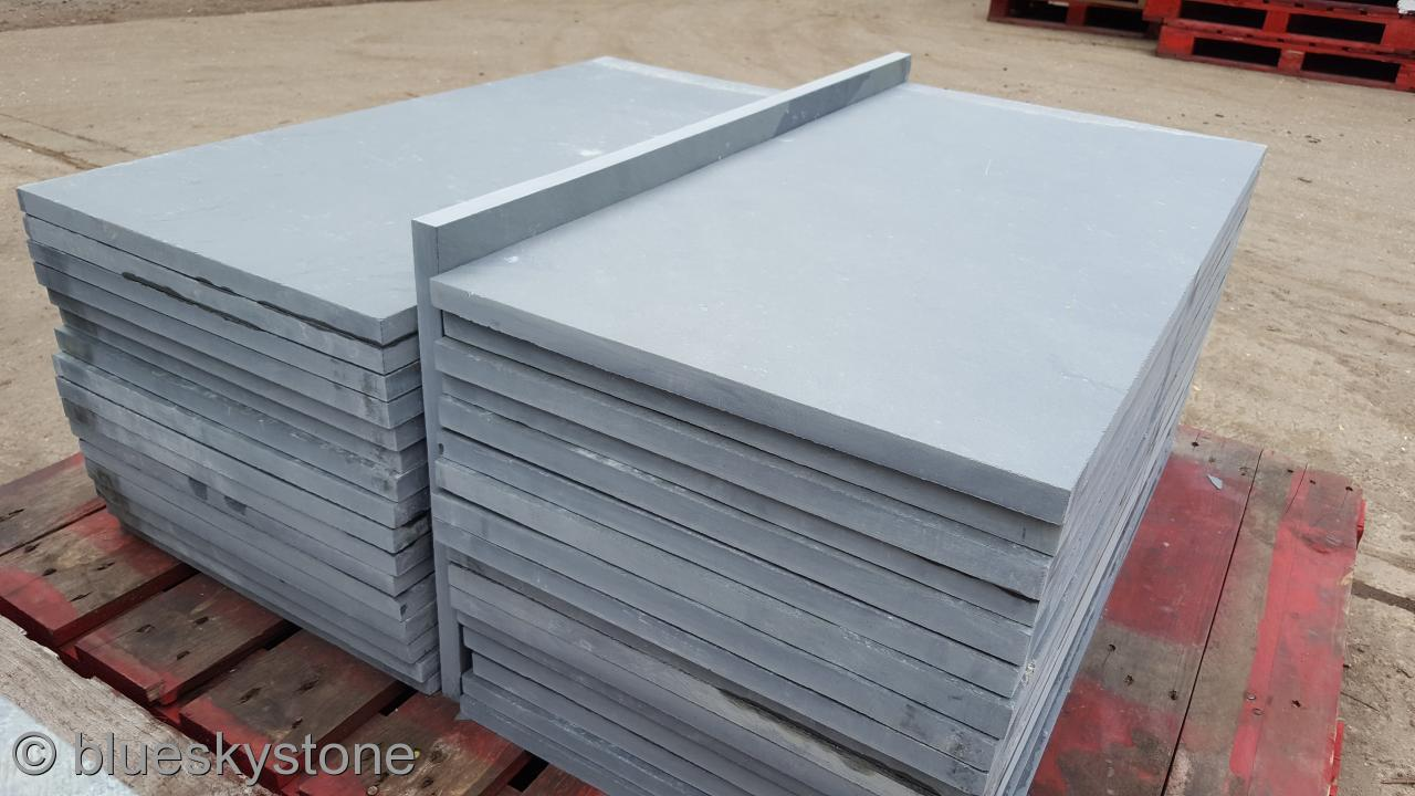 details about brazilian grey slate paving patio garden slabs 28