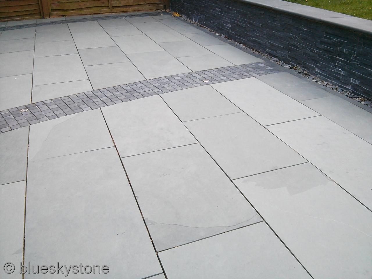 slate paving tiles chinese midnight slate paving stone cladding crate