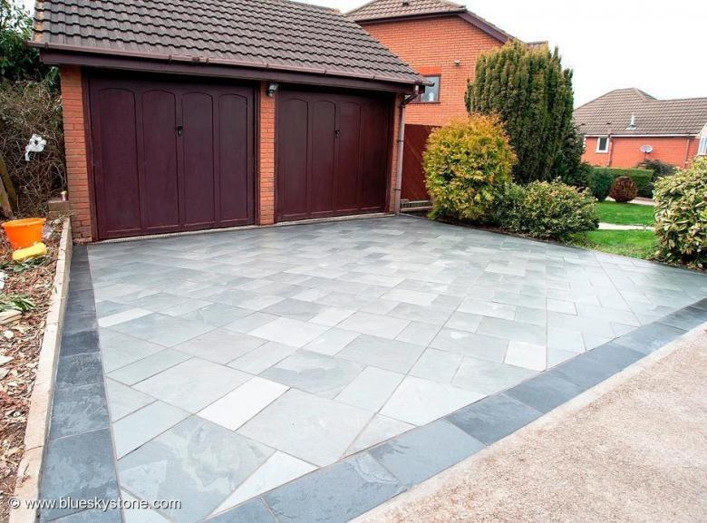 Driveway slate not block paving paving tiles for Tile driveway