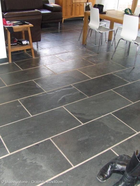 Black And Grey Slate Floor Wall Tiles Kitchen