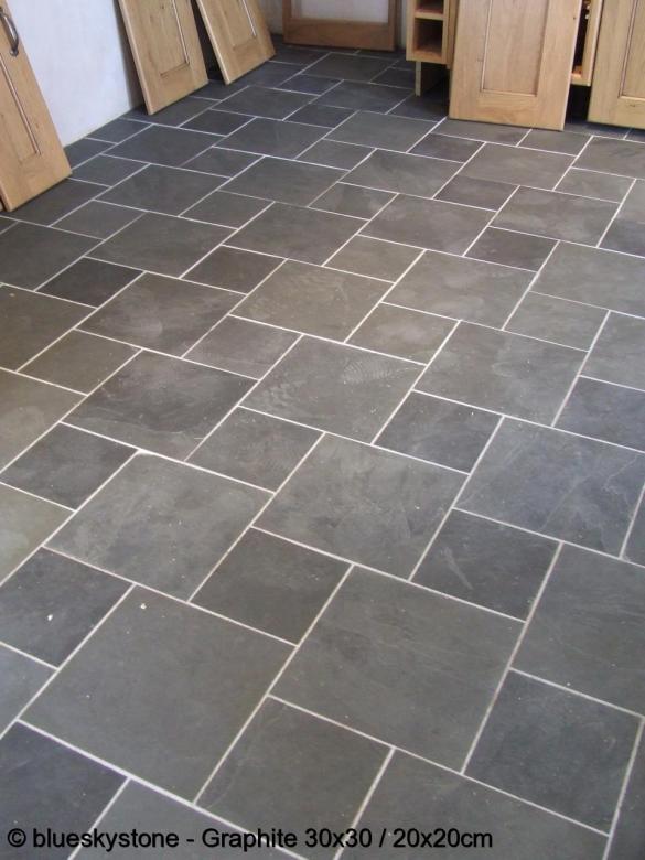 Black Slate Patter : Brazilian black graphite slate floor flooring tiles tile