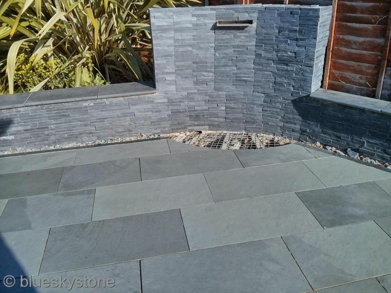 details about brazilian grey slate paving patio garden slabs