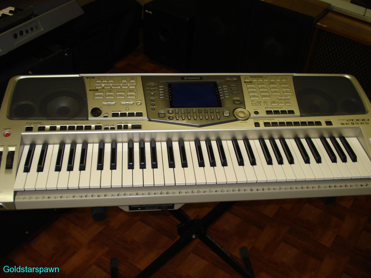 yamaha psr 2000 electronic 61 key keyboard workstation. Black Bedroom Furniture Sets. Home Design Ideas