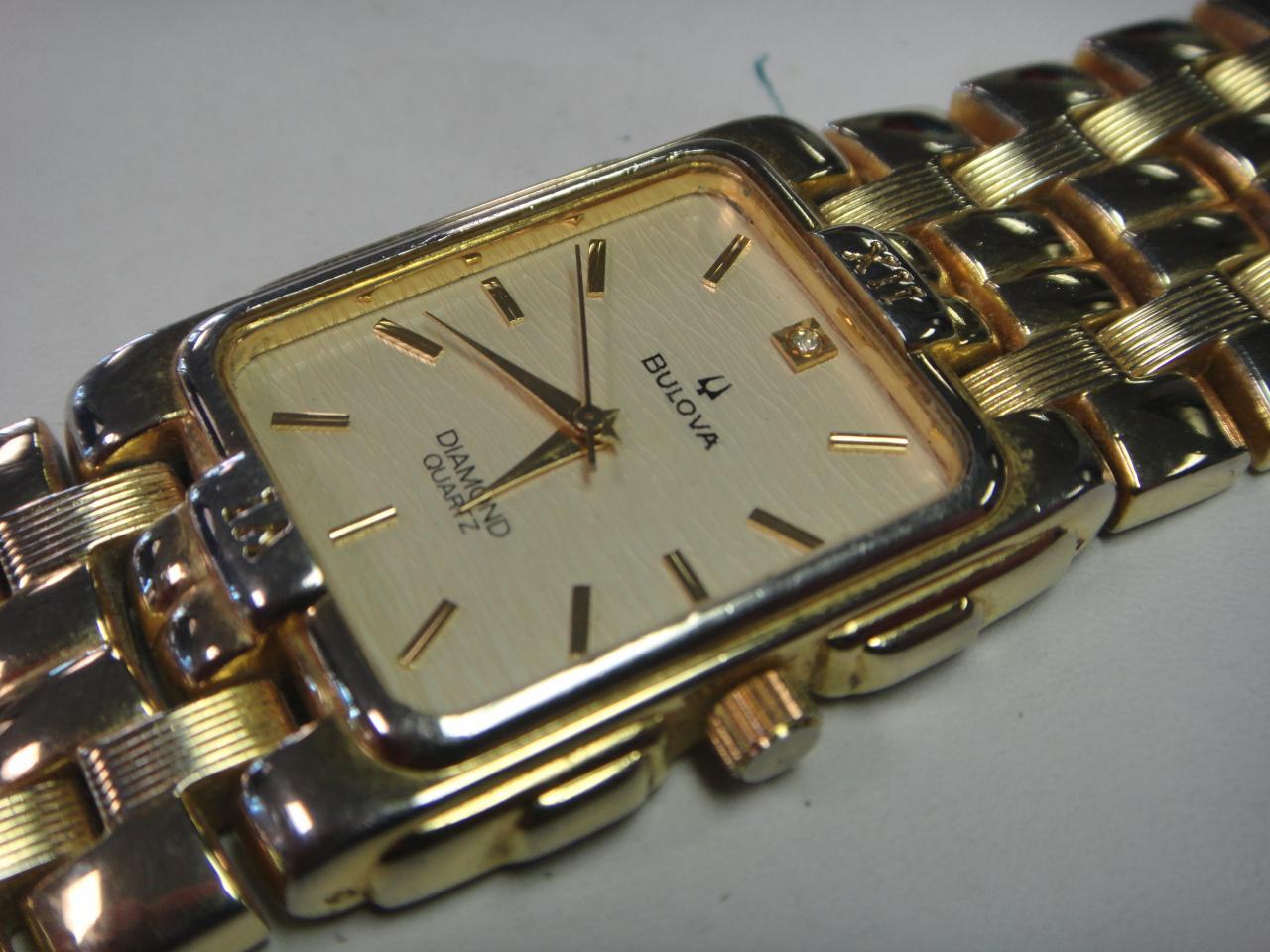 bulova 9063 5020 vintage s 18k gold plated