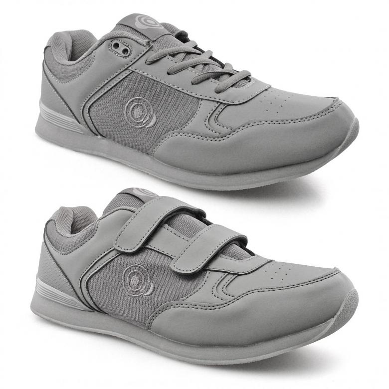 Bowls Touch Fastening Bowling Shoes Grey White Size 3 4 5 6 7 8 9 10 11 12
