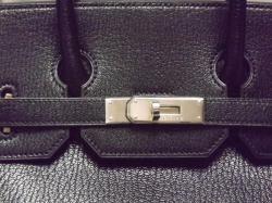Hermes Black Chevre de Coromandel HAC Birkin 32 cm Phwhaut A ...