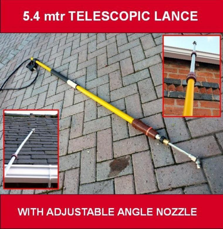 5 4 Mtr Telescopic Pressure Washer Lance C W Adjustable