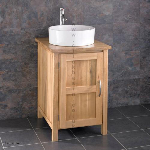 details about carva solid oak vanity cabinet sink washbasin bathroom