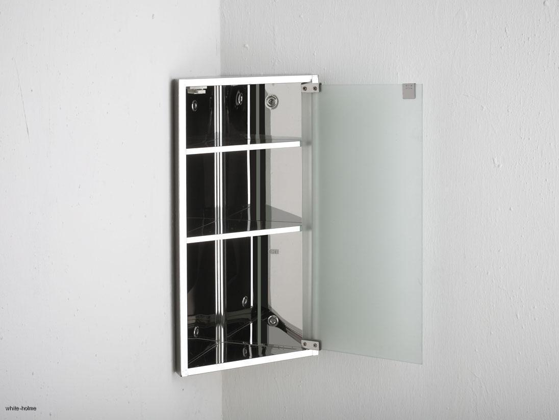 steel single door frosted glass corner bathroom wall storage cabinet