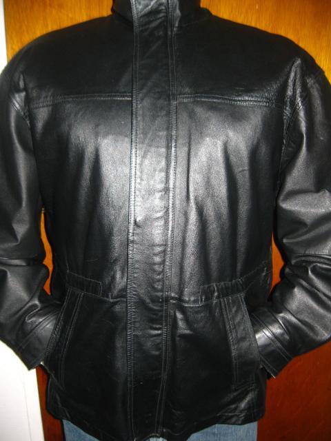 a630accae Mens John Ashford Soft Black Leather Zipper Up Jacket Coat Sz XL ...