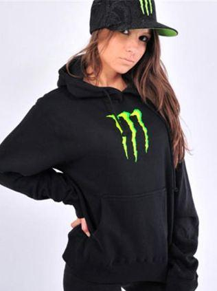monster energy one industries women pullover hoodie. Black Bedroom Furniture Sets. Home Design Ideas