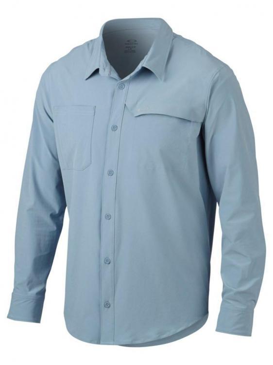 Oakley agility men 39 s o hydrolix uv protection woven long for Mens long sleeve uv protection shirt