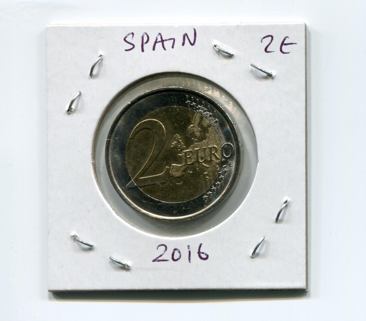 """Felipe VI/"""" BiMetallic UNC Spain 2 euro 2014 /""""Juan Carlos"""