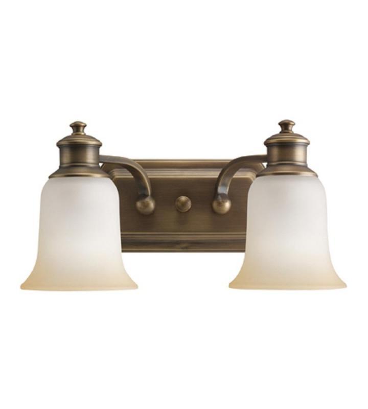 Kichler 2 Light Vintage Natural Brass Bath Wall Ebay
