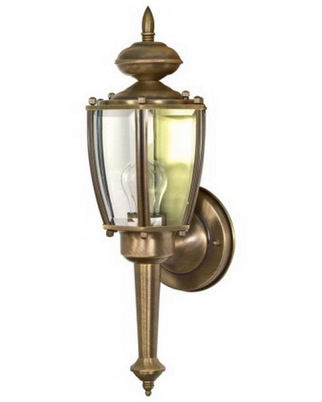 Exterior brass light fixtures residential for Vintage exterior light fixtures