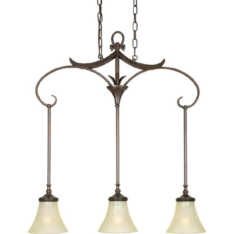 unique terra bronze chandelier island light
