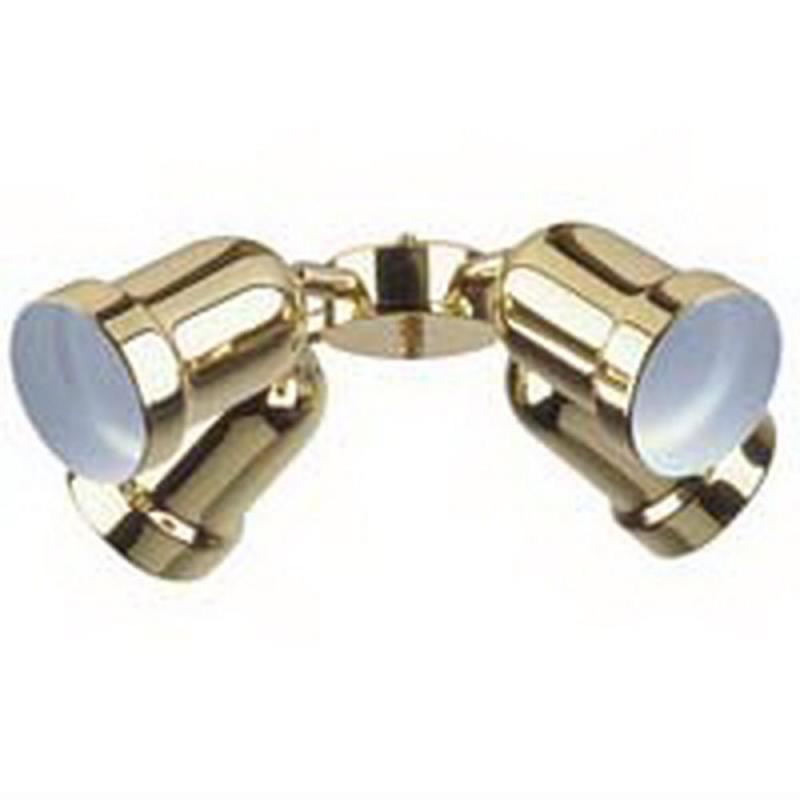 polished brass 4 light bullet ceiling fan light kit ebay. Black Bedroom Furniture Sets. Home Design Ideas
