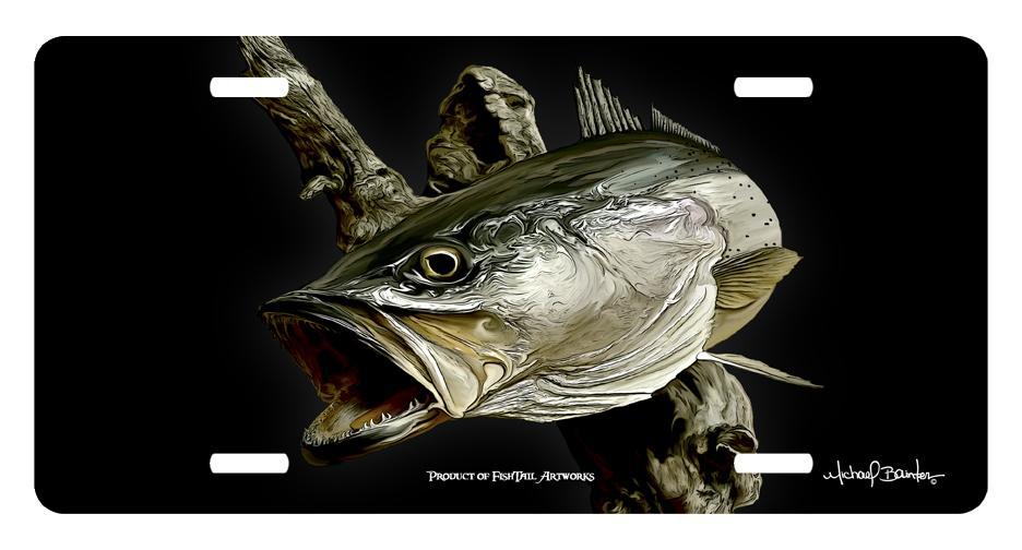 custom nautical fine art license plate prowler fishing ebay. Black Bedroom Furniture Sets. Home Design Ideas