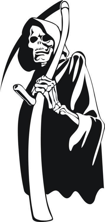 Custom Large Grim Reaper Car Window Decal
