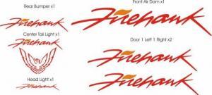 Details about Pontiac Firebird Firehawk Trans AM Decal Set 6 Pieces