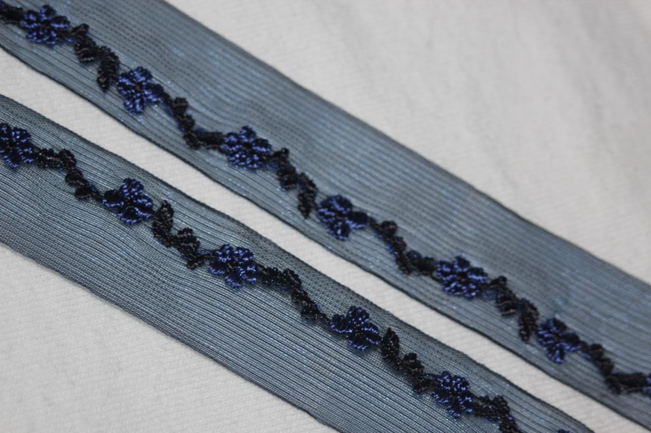 1 yard Black Twill Satin Organza Velveteen Silver Eyelet grommets GROMMET trim