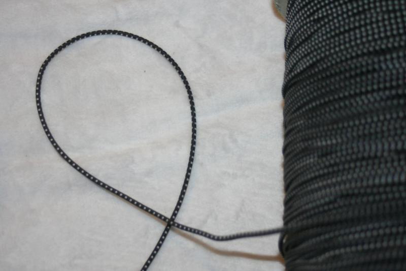 3 yards black white checked ROUND elastic bungee headband shock cord