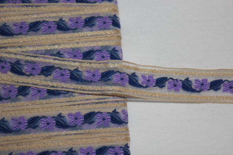 """Lace Ruffle Purple Trim 1//2"""" wide New 1 Yard = $1"""