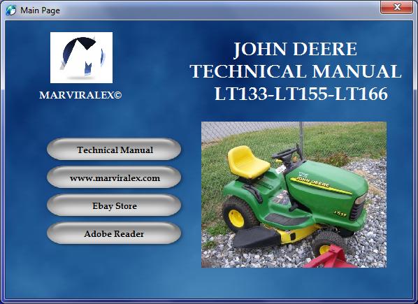 john deere repair manual lt133