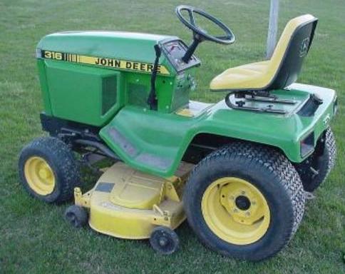 John Deere 316 Service manual H120 Loader weight
