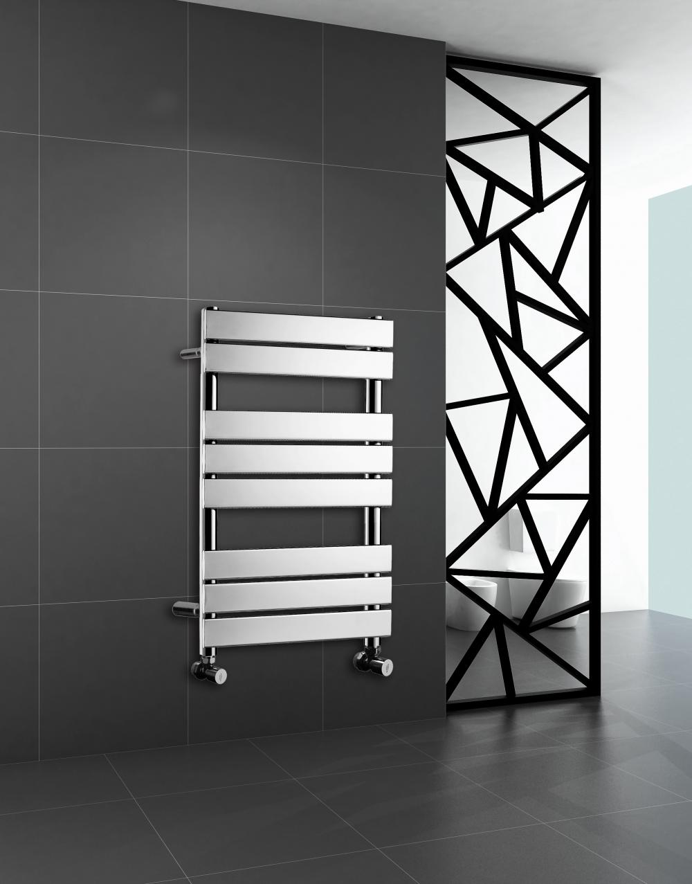 Towel rails for bathroom - Luxury Designer Chrome Flat Panel Towel Rail Bathroom