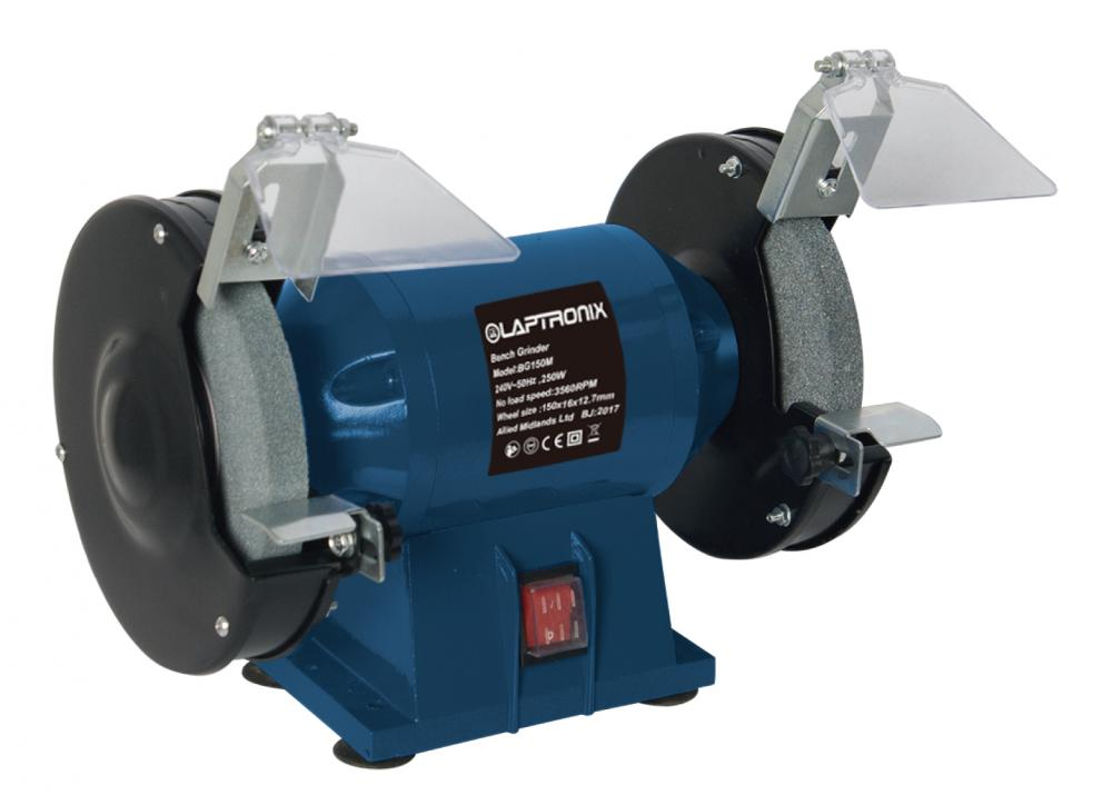 Laptronix Bench Grinder 250w 6 Quot 150mm Twin Grinding Stone