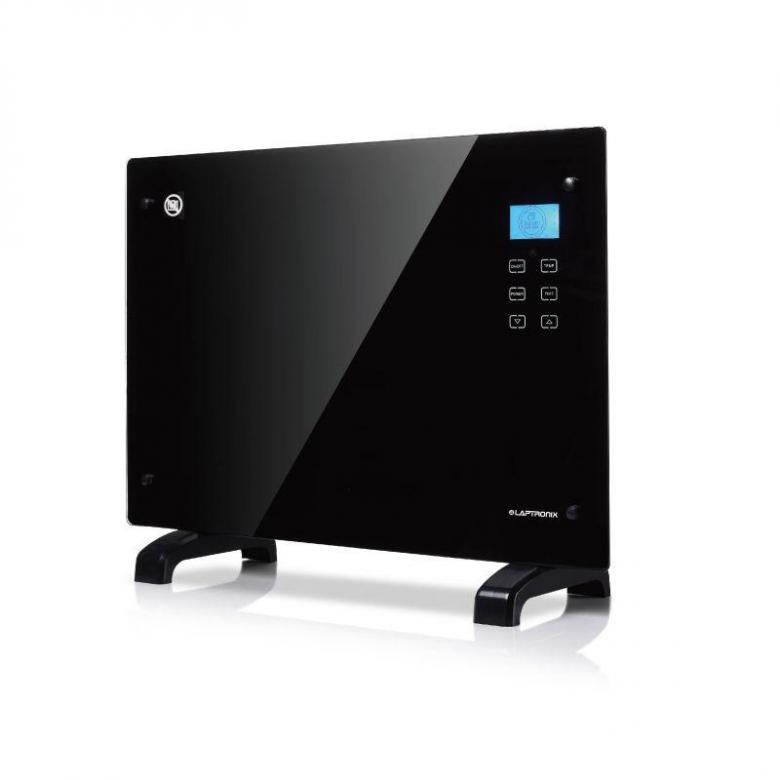 Laptronix Black Glass Free Standing Wall Mounted Portable