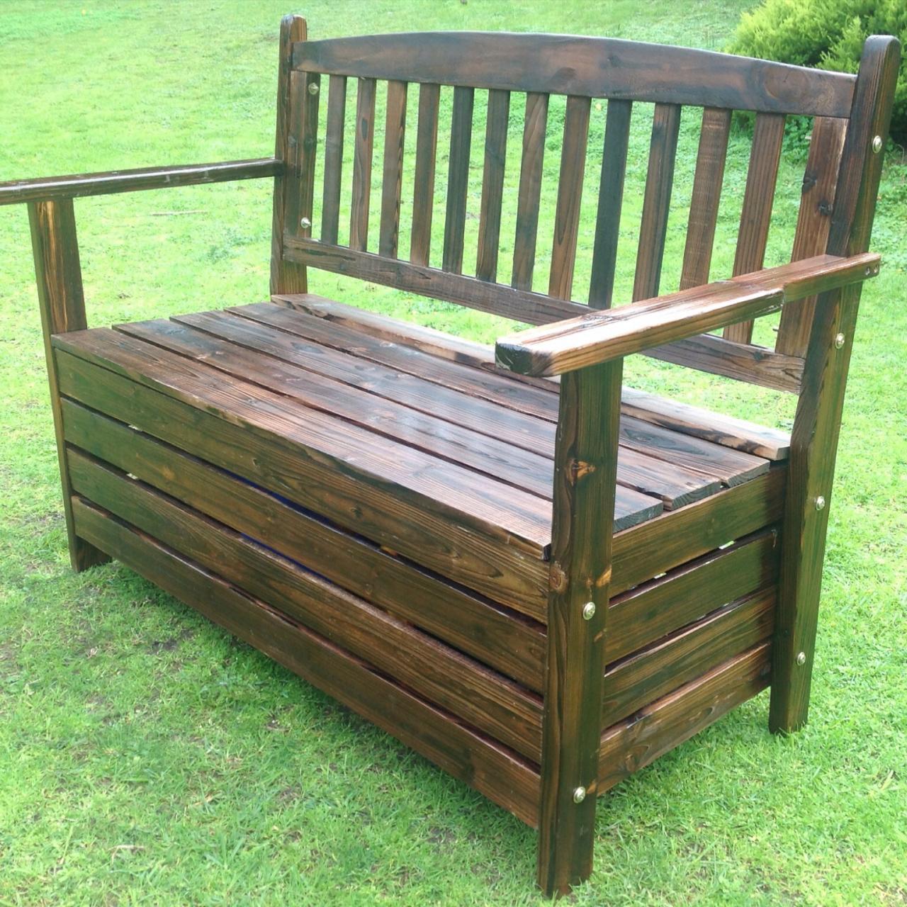 NEW Wooden Garden Storage Box Timber Bench Chair Outdoor ...