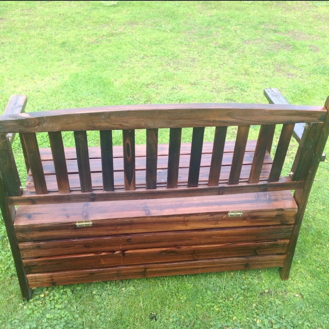 new wooden garden storage box timber bench chair outdoor. Black Bedroom Furniture Sets. Home Design Ideas