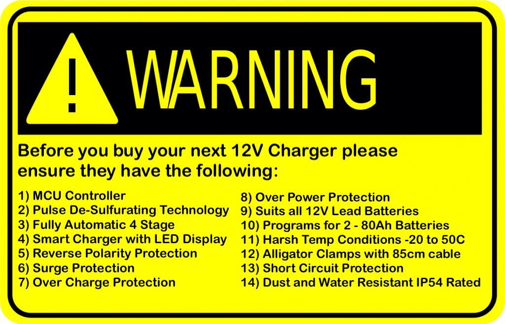 12V battery charger 3A