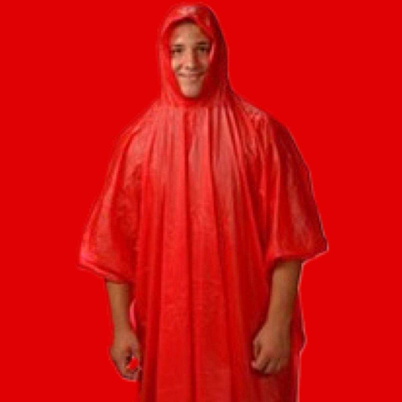 Red rain poncho