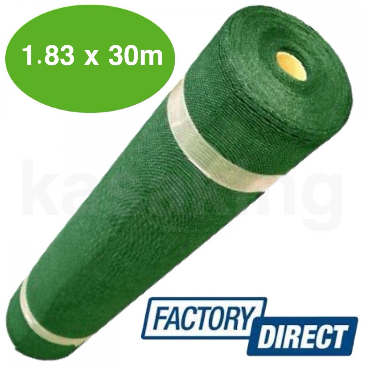 1.83 x 30m green 90% shade cloth