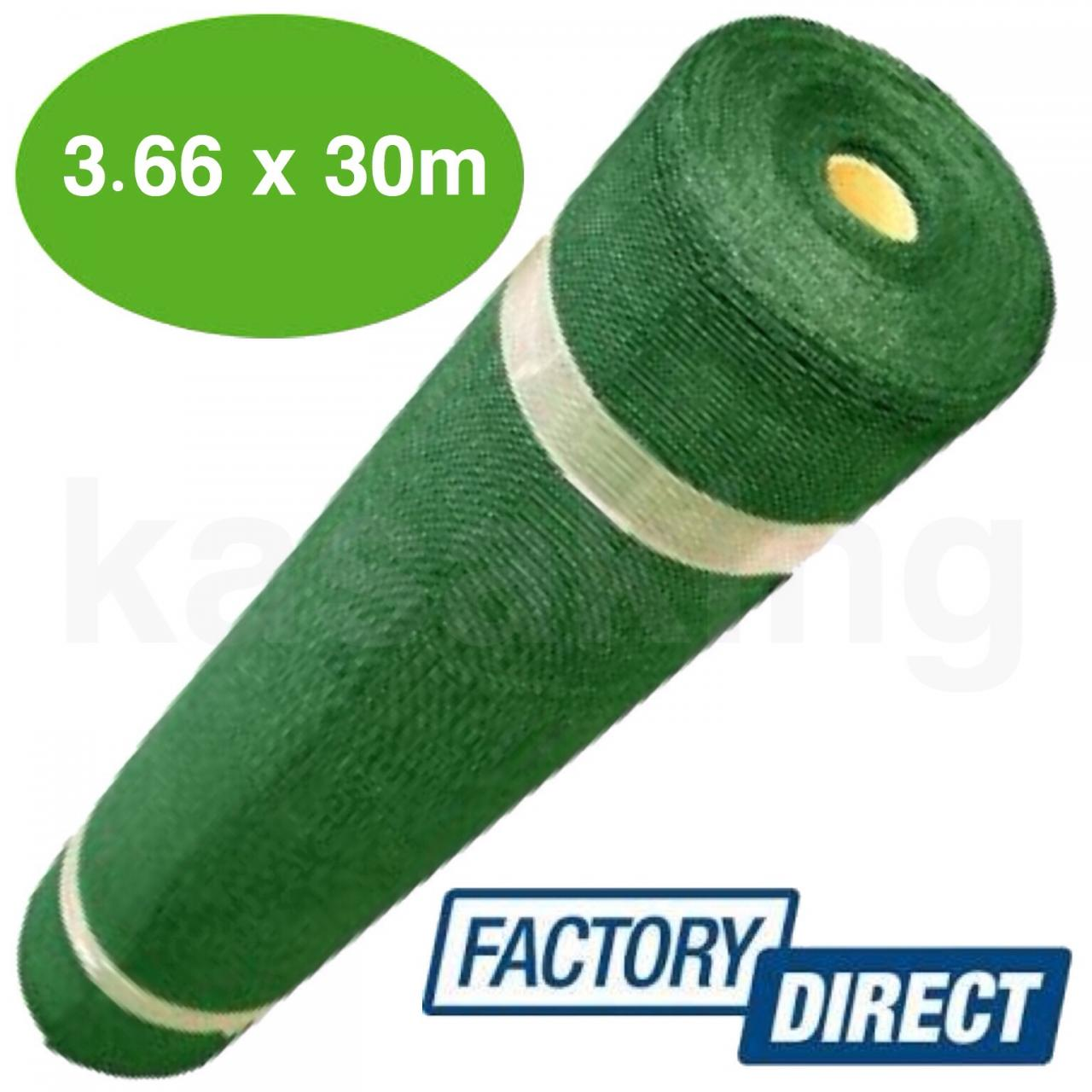 3.66 x 30m green 90% shade cloth