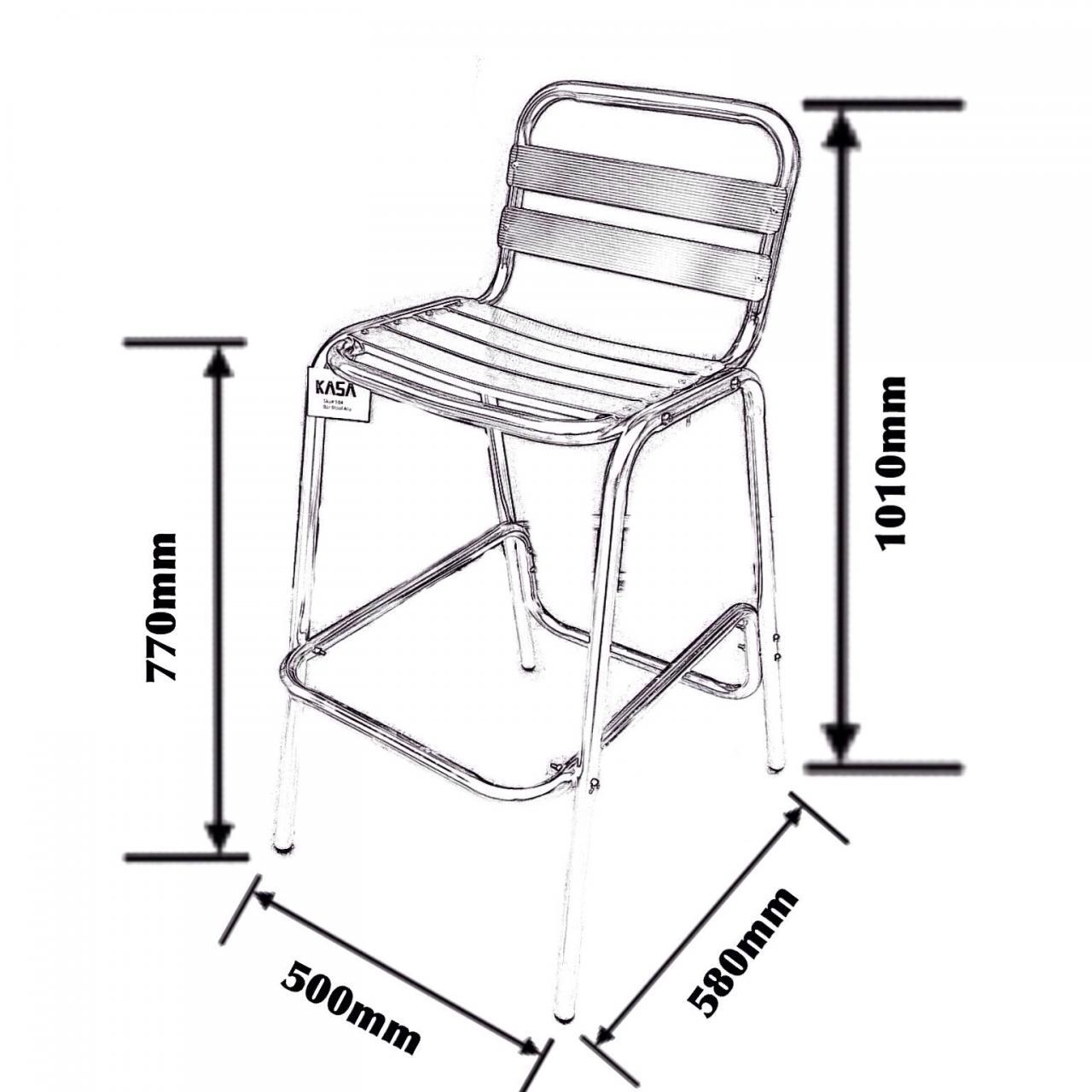 Aluminium Bar Chair