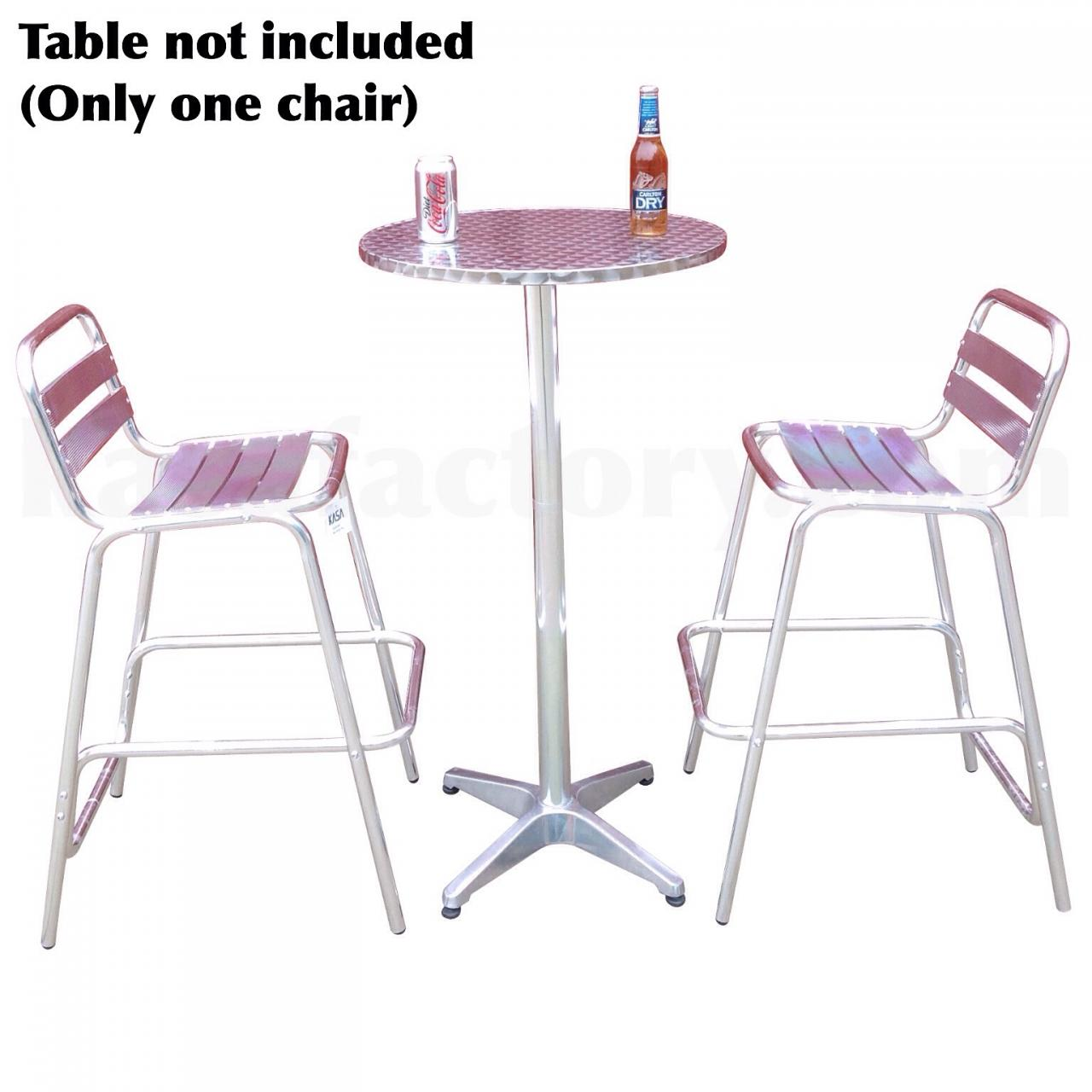 Aluminium bar table and chair